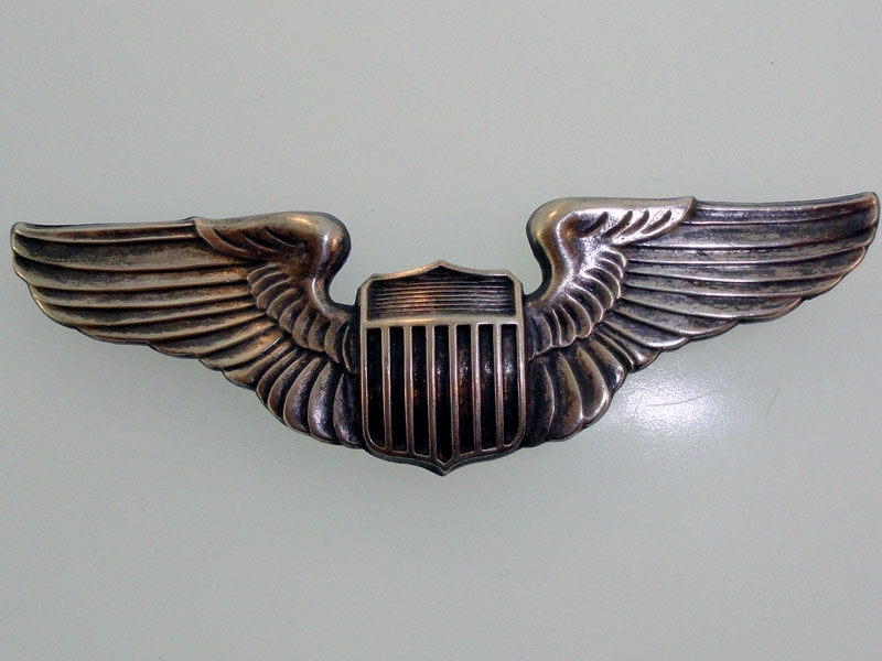 eMedals-WWII AAF Pilot Wing in Sterling