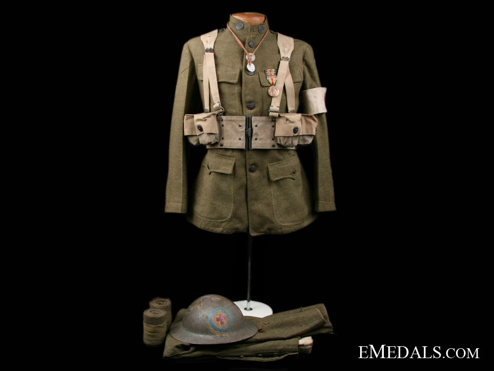 eMedals-A First War AEF Medic Uniform