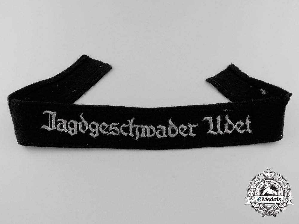 eMedals-A Tunic Removed Jagdgeschwader Udet Cufftitle