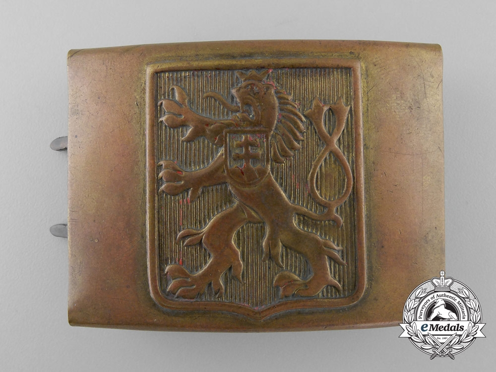 eMedals-A Second War Czech Army Belt Buckle