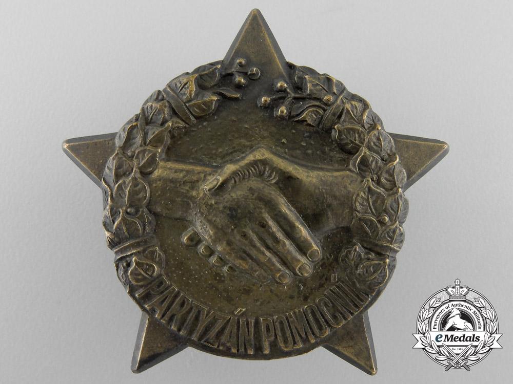 eMedals-A Second War Czech Partisan Helper Badge