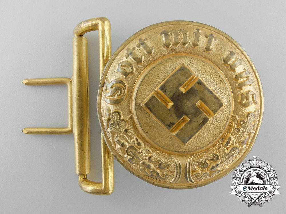 eMedals-Germany, Ordnungspolizei. A Police General's Belt Buckle