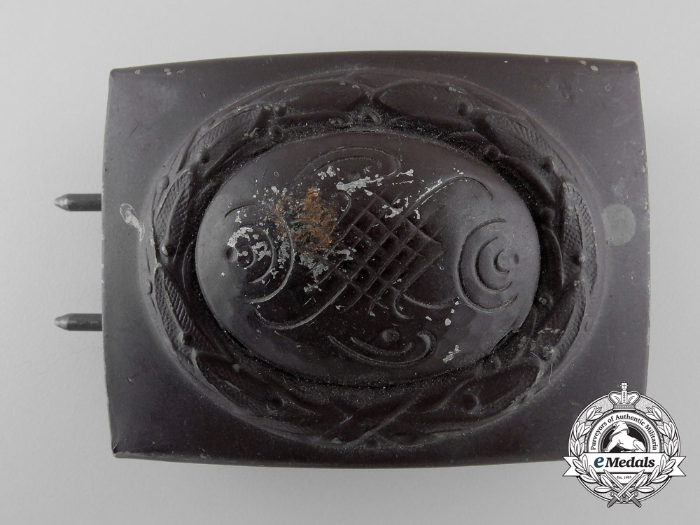 eMedals-A Probable Post-War Modification of a Luftwaffe Enlisted Man's Belt Buckle by Franke & Co.