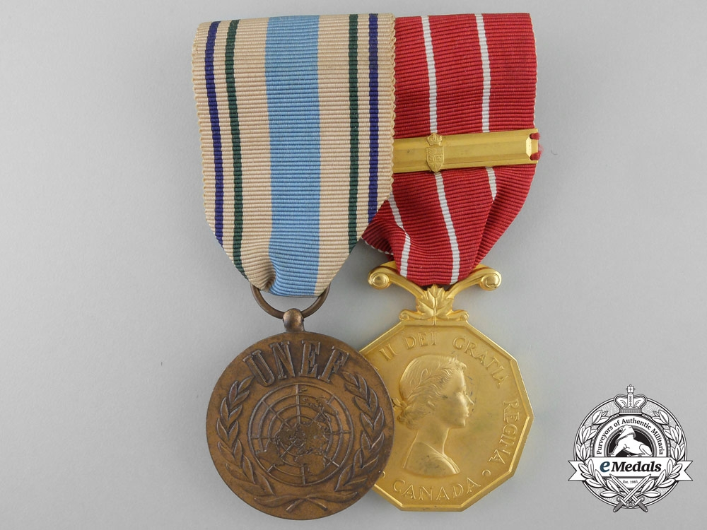 eMedals-An Egypt and Israel United Nations Service Pair to Squadron Leader Sabourin