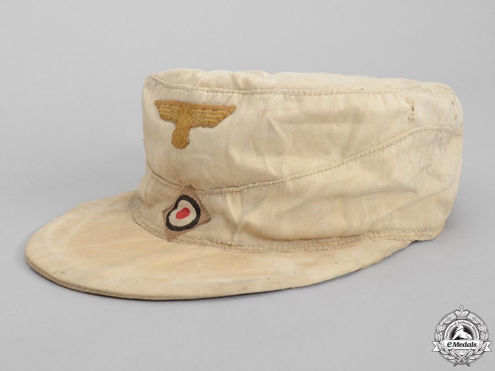 eMedals-A German Tropical Kriegsmarine Cap; Named