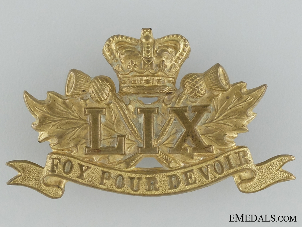 eMedals-Victorian Era 59th Stormont and Glengarry Regiment Cap Badge