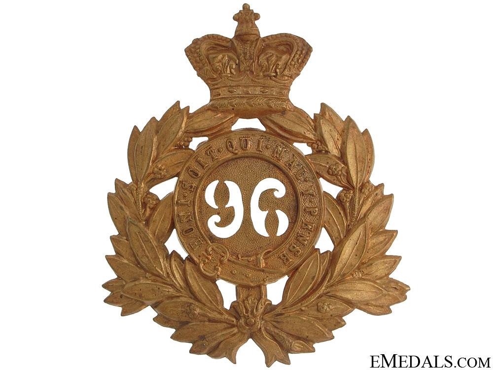 eMedals-Victorian Era 96th Regiment of Foot Helmet Plate