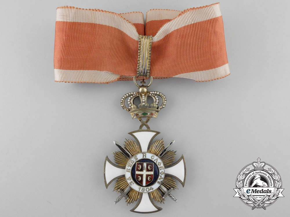 eMedals-A Serbian Order of Karageorge; Third Class Military Division