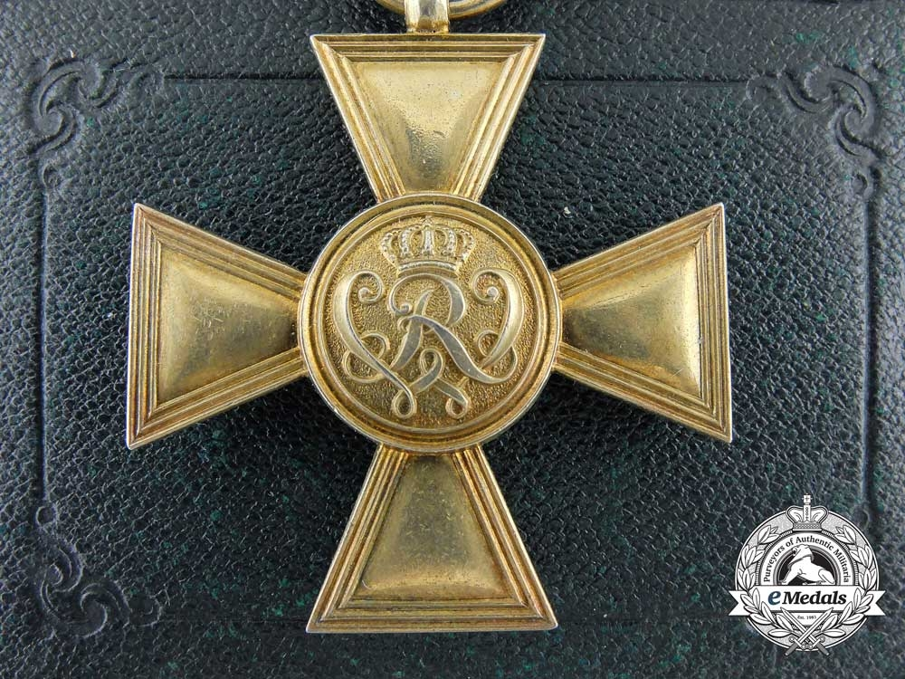 eMedals-A  Prussian Golden Military Merit Cross with Case by Wagner, Berlin