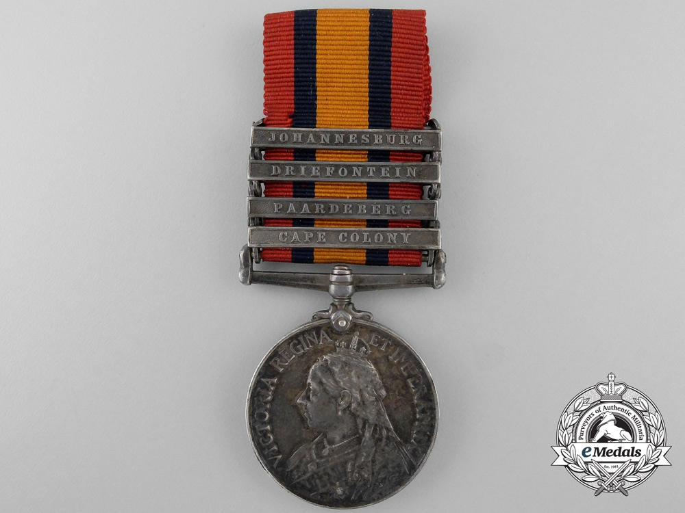 eMedals-A Queen's South Africa Medal to the Royal Canadian Regiment of Infantry