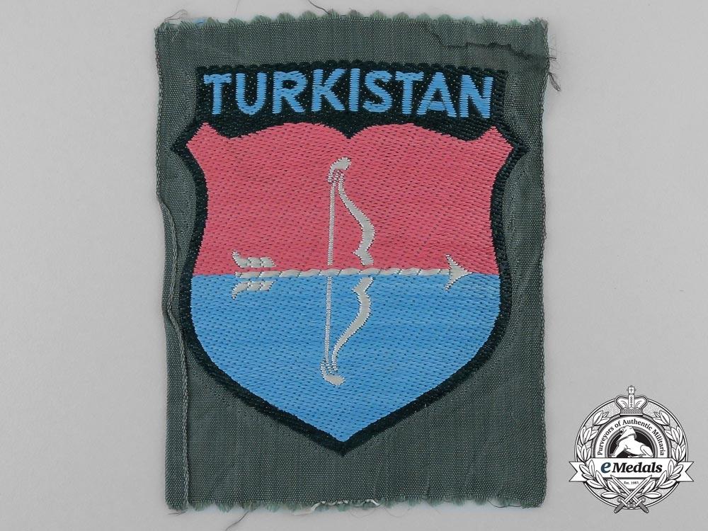eMedals-A German Army Turkistan Volunteers Sleeve Shield (Turkistan Landeschilde)