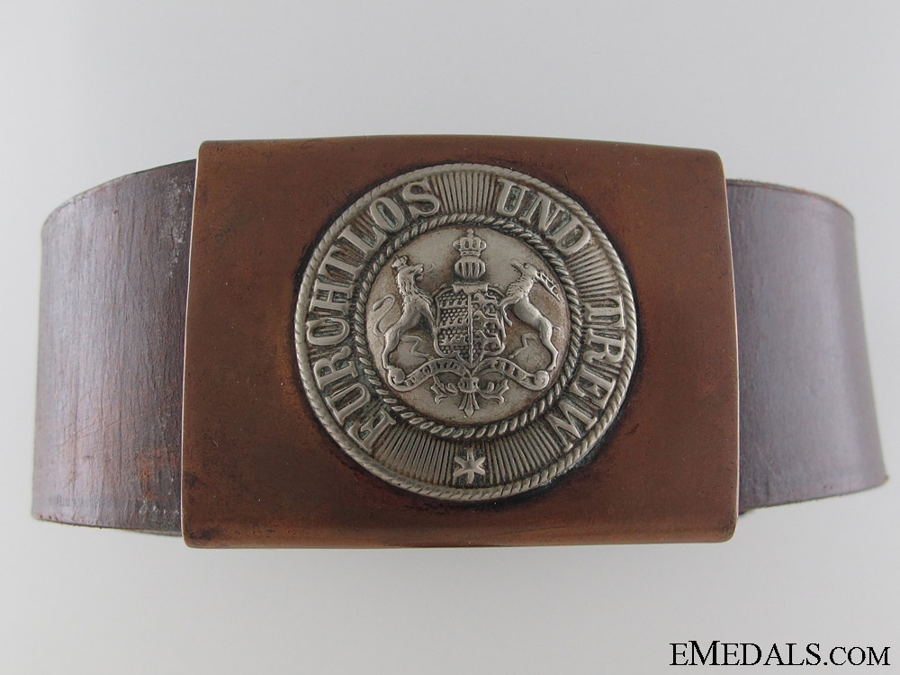eMedals-Württemberg Belt & Brass Buckle