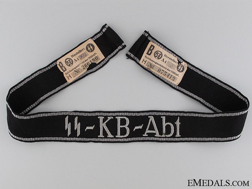 "eMedals-Waffen-SS ""SS-KB-Abt"" Cufftitle"
