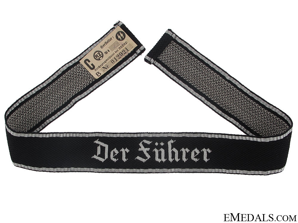 """eMedals-Waffen-SS """"Der Führer"""" Officer's Cufftitle"""