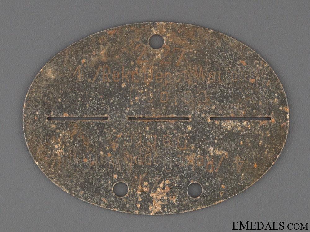 eMedals-Waffen SS ID Disc