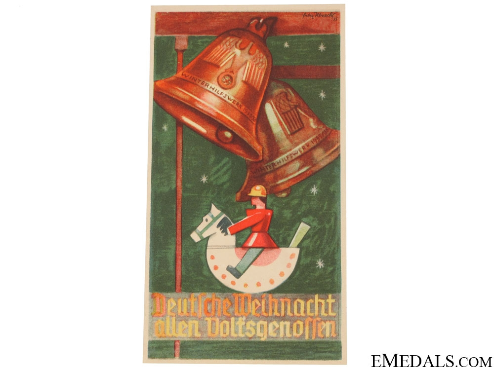 eMedals-Winterhilfswerk (WHW) German Christmas to All Fellows Handout, 1935-1936