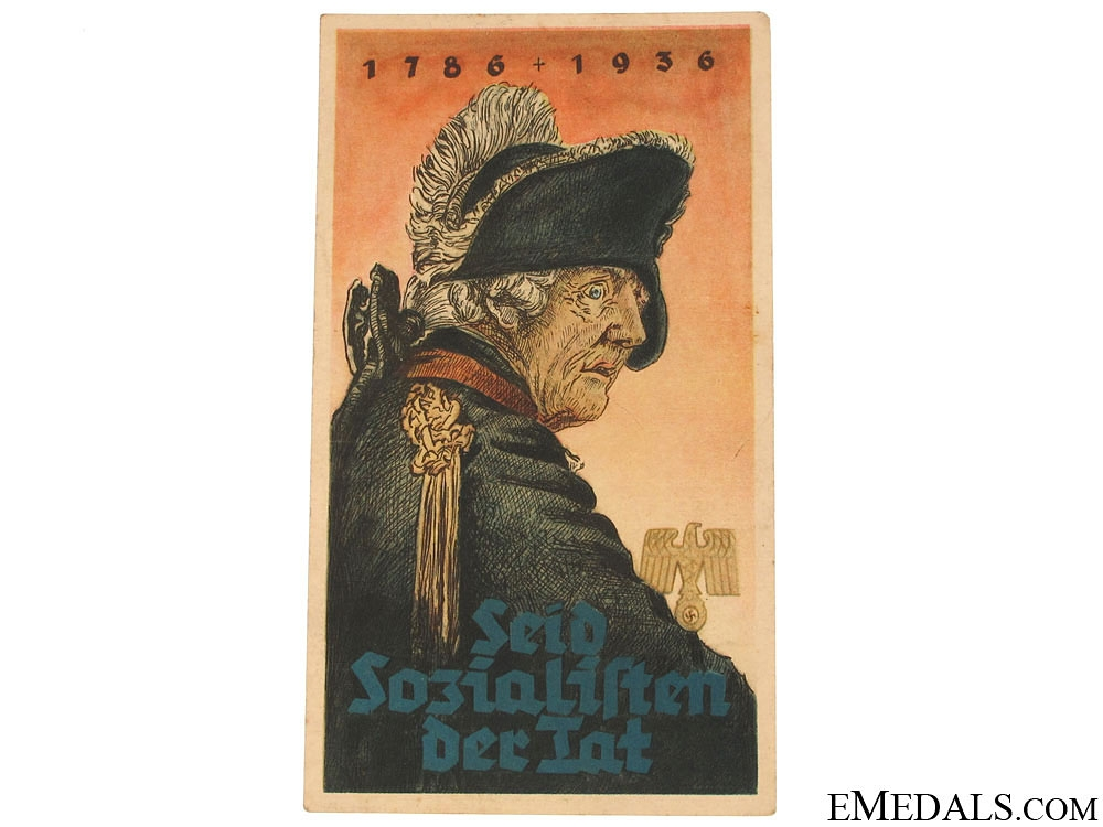 eMedals-Winterhilfswerk (WHW) Socialists Indeed Frederick The Great Handout, 1786-1936