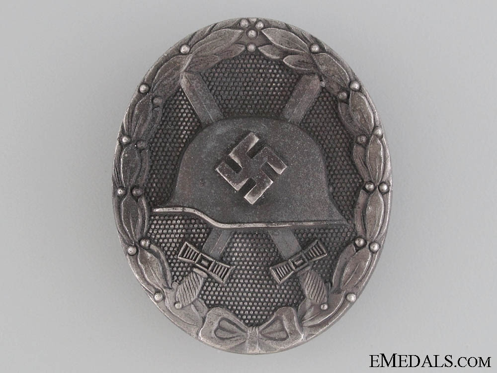 eMedals-Wound Badge - Silver Grade by 65