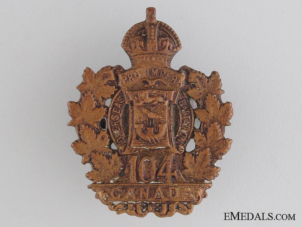 eMedals-WWI 104th Infantry Battalion Collar Tab CEF