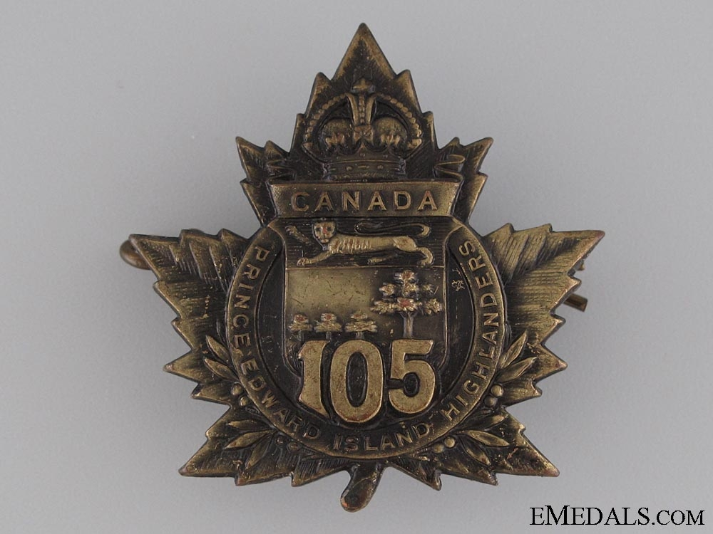 eMedals-WWI 105th Infantry Battalion Cap Badge CEF