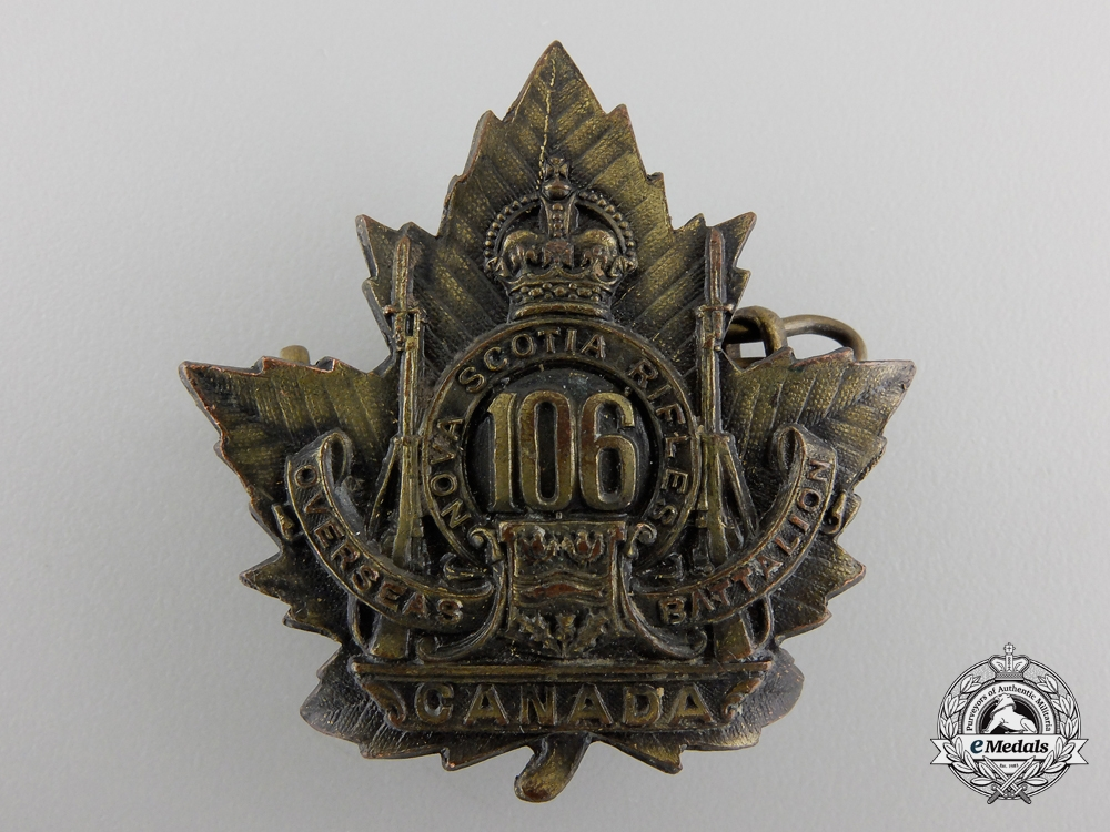 eMedals-WWI 106th Infantry Battalion Cap Badge CEF