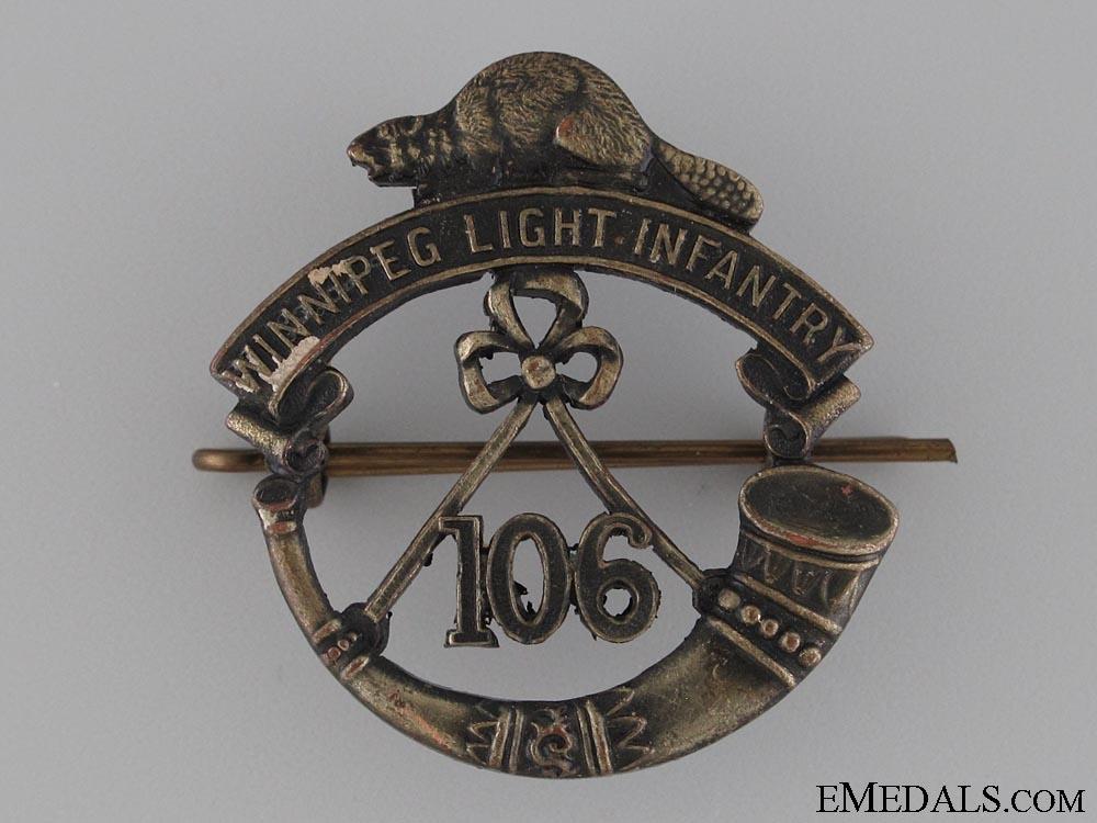 eMedals-WWI 106th Winnipeg Light Infantry Cap Badge