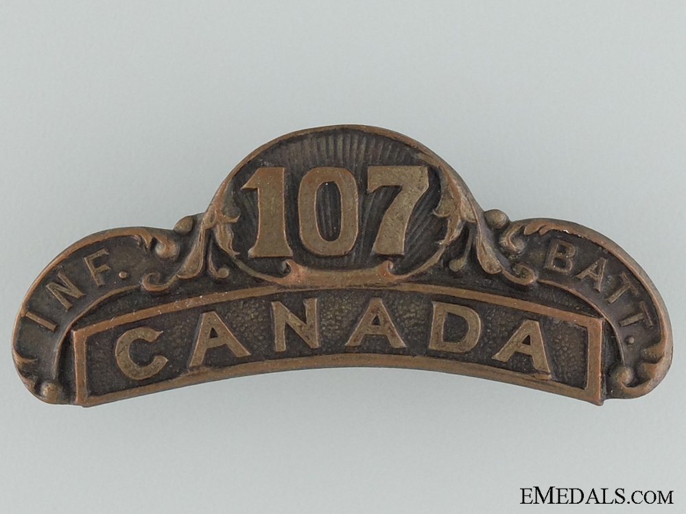 eMedals-WWI 107th Infantry Battalion Shoulder Title CEF