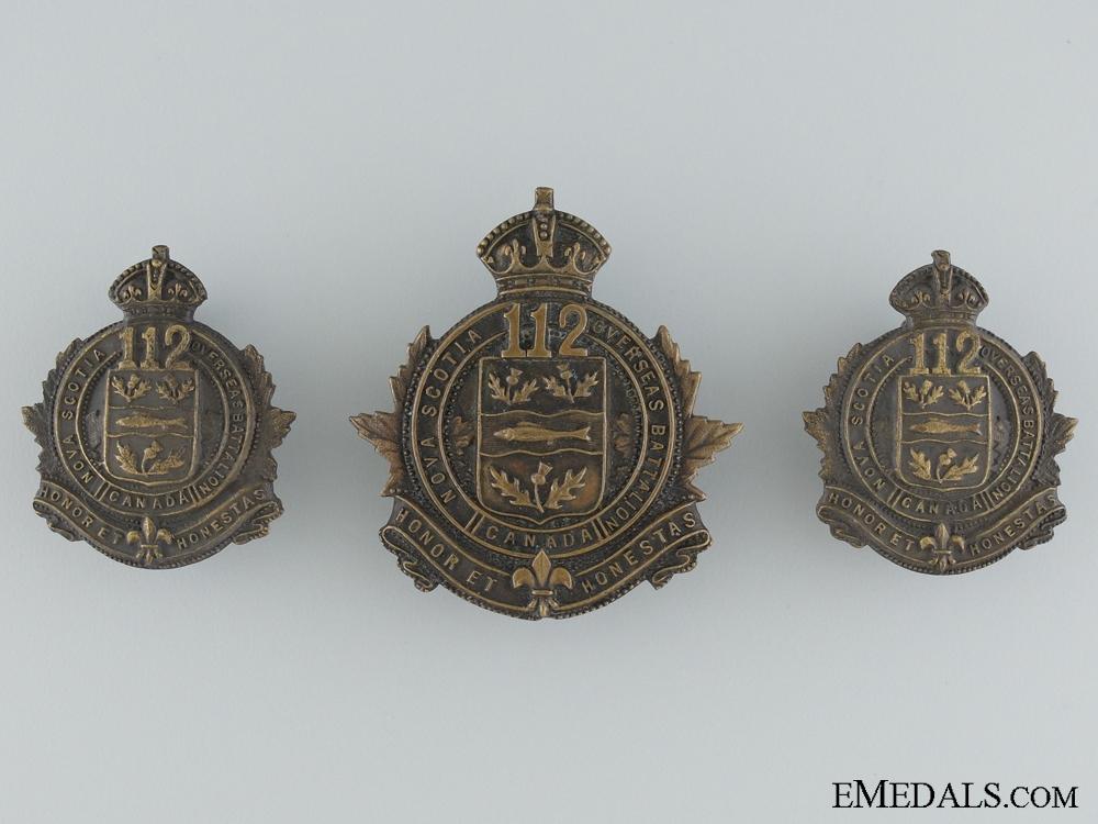 eMedals-A First War 112th Battalion Nova Scotia Overseas Battalion Insignia CEF