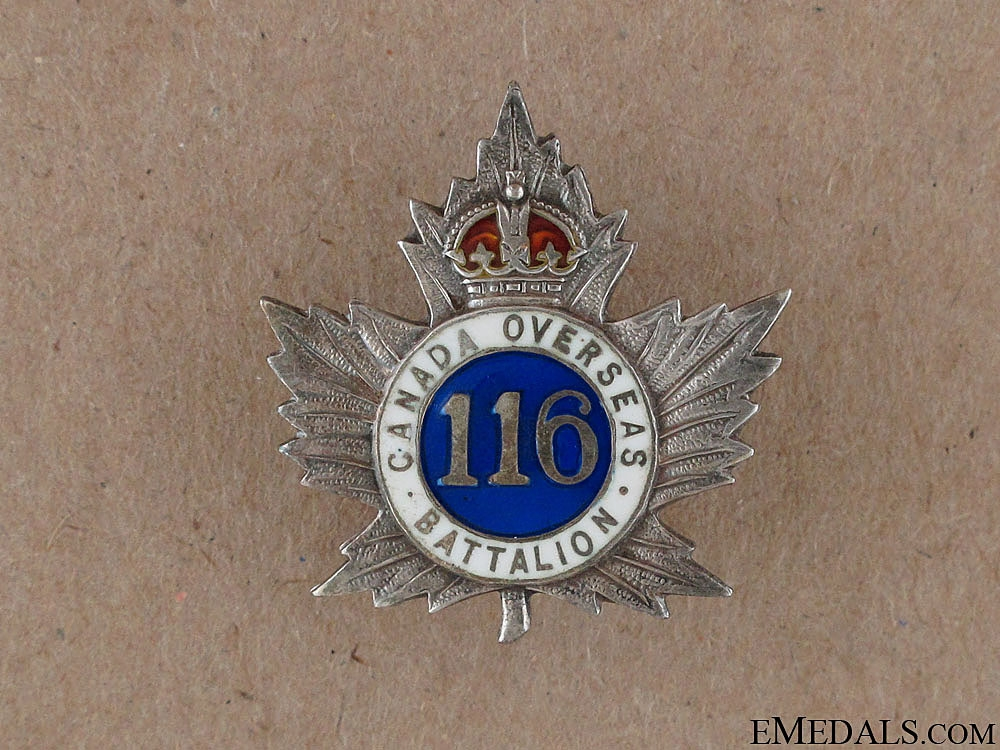 eMedals-WWI 116th Ontario County Battalion Sweetheart Pin