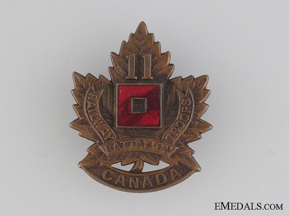 eMedals-WWI 11th Battalion Railway Troops Cap Badge