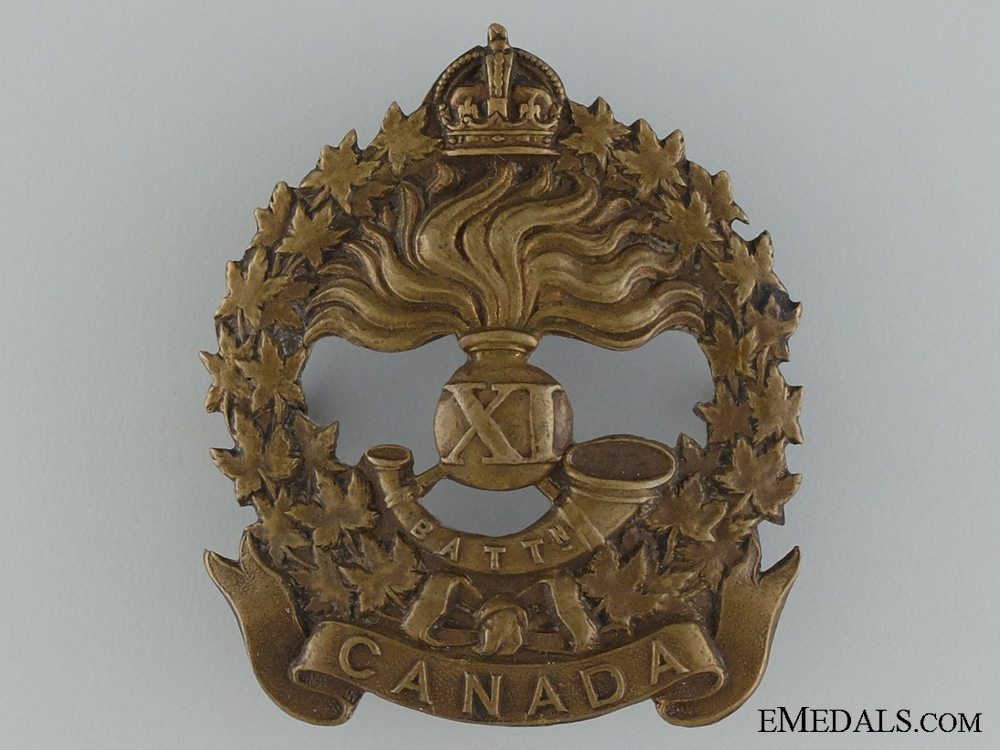 eMedals-WWI 11th Infantry Battalion Cap Badge CEF
