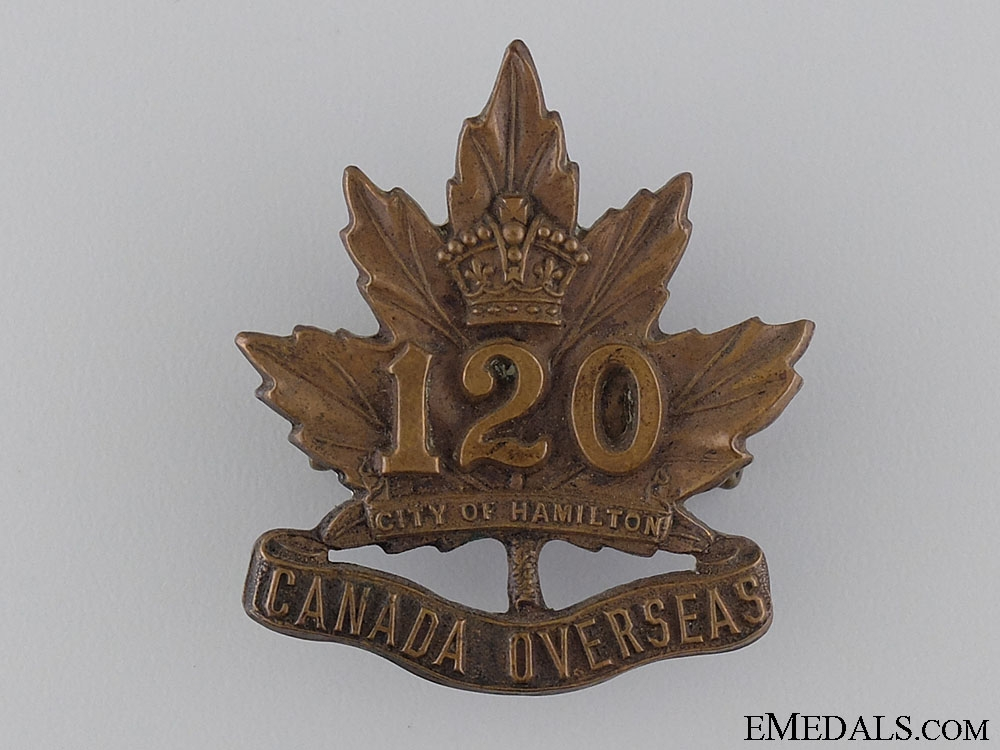 eMedals-WWI 120th Infantry Battalion Cap Badge 1915 CEF