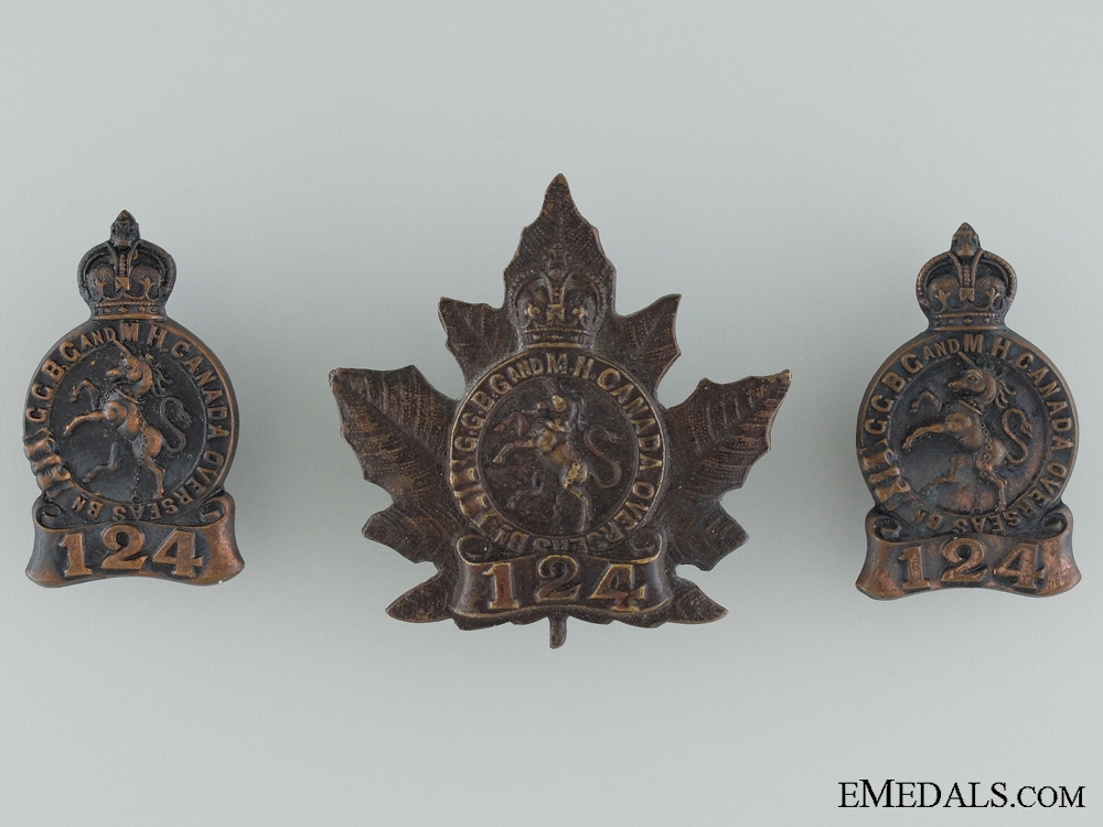 "eMedals-WWI 124th Battalion ""Governor General's Body Guard"" Insignia"