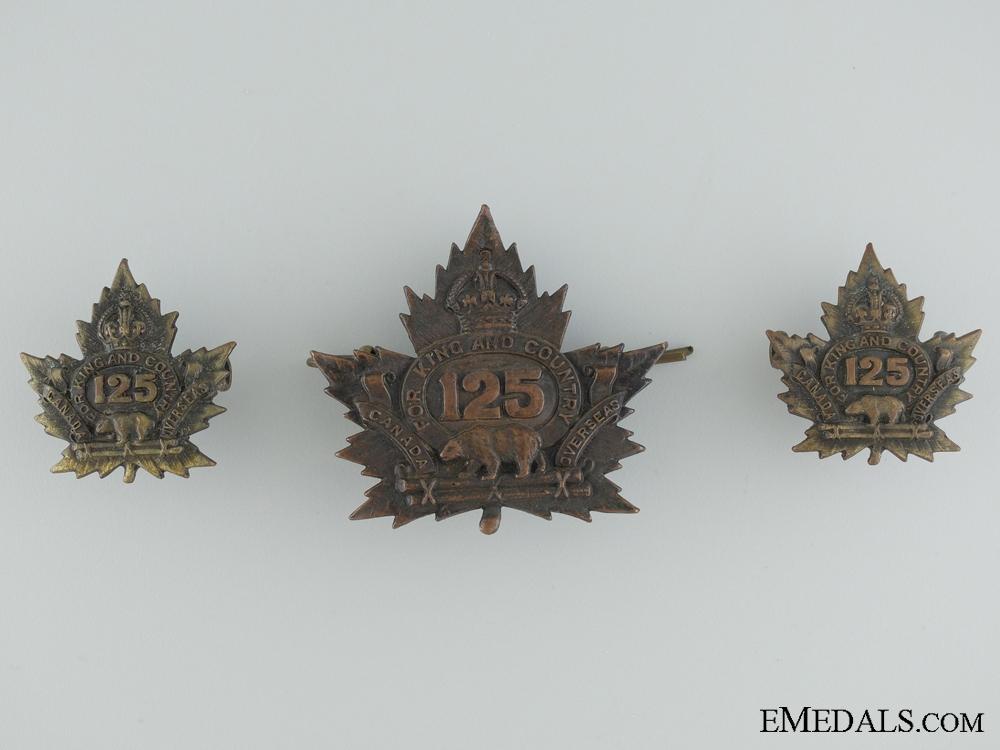 eMedals-WWI 125th Infantry Battalion Insignia CEF