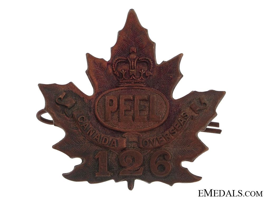 "eMedals-WWI 126th Infantry Battalion ""Peel Battalion"" Cap Badge"