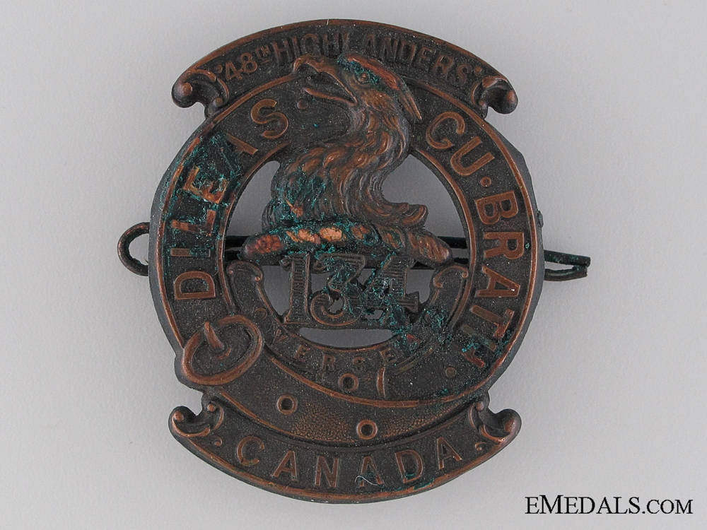 eMedals-WWI 134th Infantry Battalion Glengarry Badge