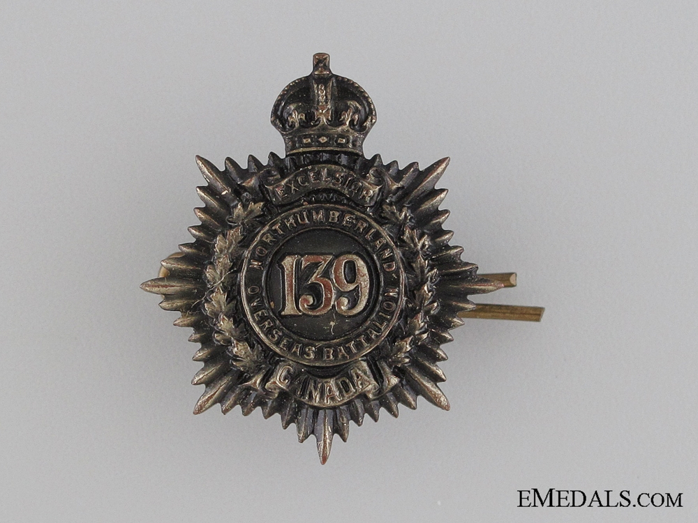 eMedals-WWI 139th Infantry Battalion Collar Tab CEF