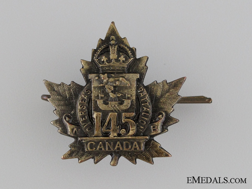 eMedals-WWI 145th Infantry Battalion Collar Tab CEF