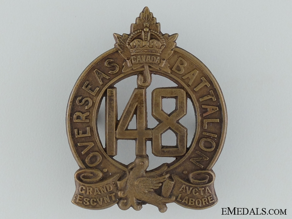 eMedals-WWI 148th Infantry Battalion Cap Badge CEF