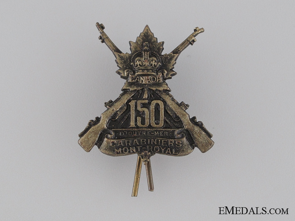 eMedals-WWI 150th Infantry Battalion Collar Tab CEF