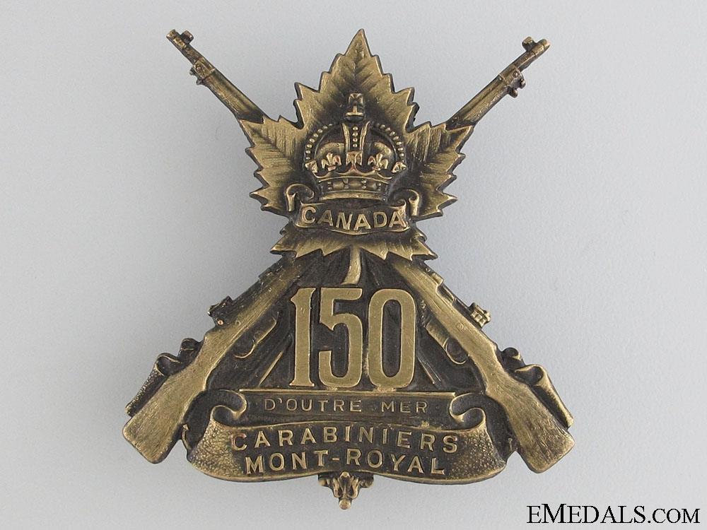 eMedals-WWI 150th Infantry Battalion Cap Badge