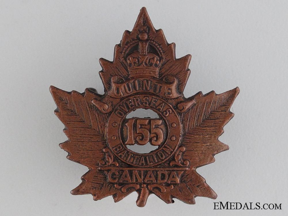 eMedals-WWI 155th Infantry Battalion Collar Tab CEF