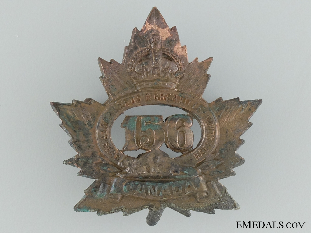 eMedals-WWI 156th Infantry Battalion Cap Badge CEF