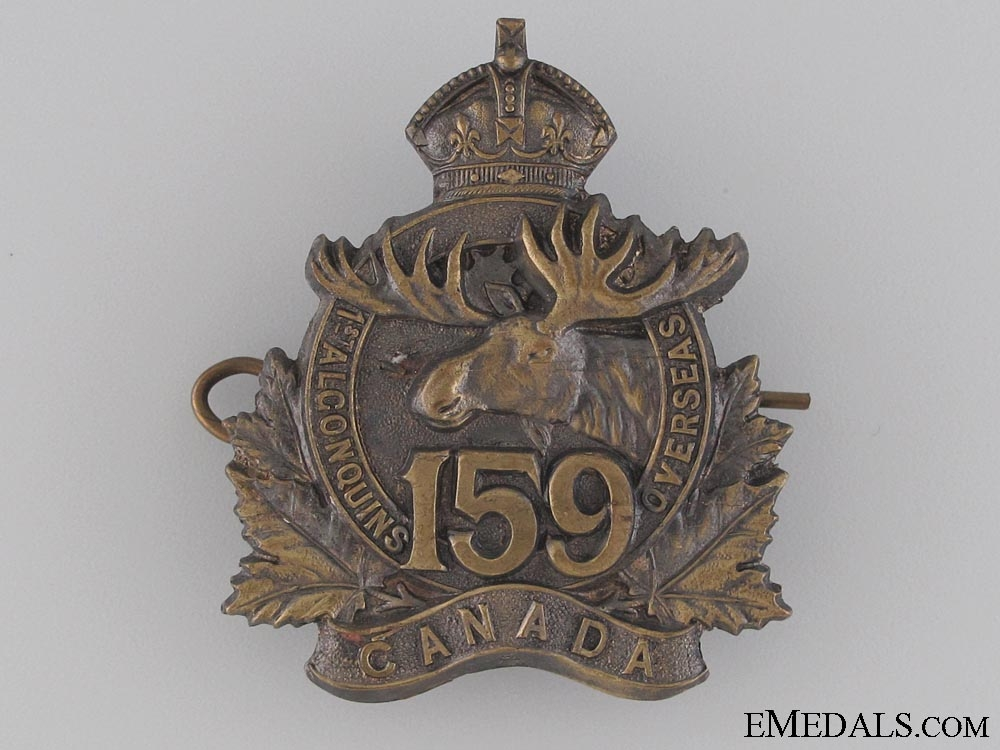 eMedals-WWI 159th Infantry Battalion Cap Badge CEF