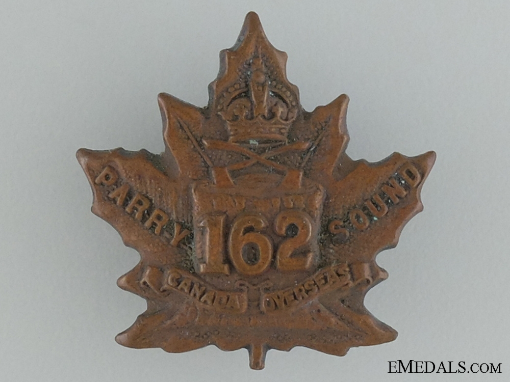 eMedals-WWI 162nd Infantry Battalion Collar Badge CEF