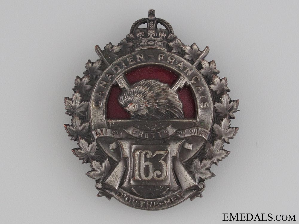eMedals-WWI 163rd Infantry Battalion Officer's Badge