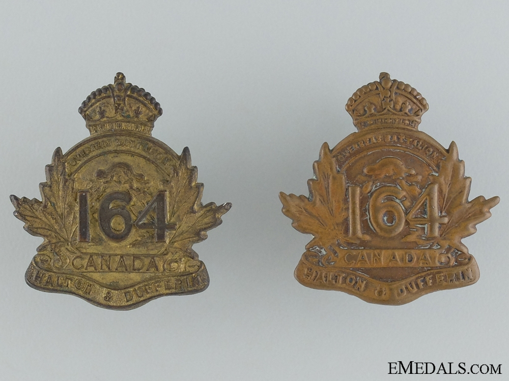 eMedals-WWI 164th Infantry Battalion Collar Pair