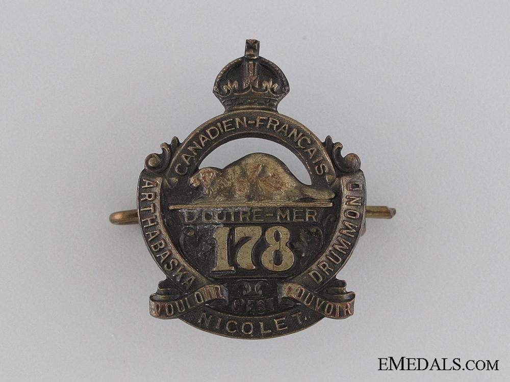 eMedals-WWI 178th Infantry Battalion Collar Tab CEF