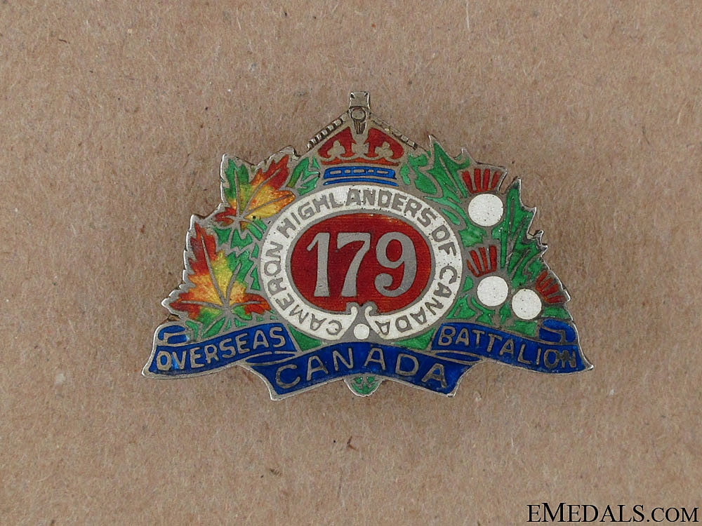 eMedals-WWI 179th Cameron Highlanders of Canada Pin