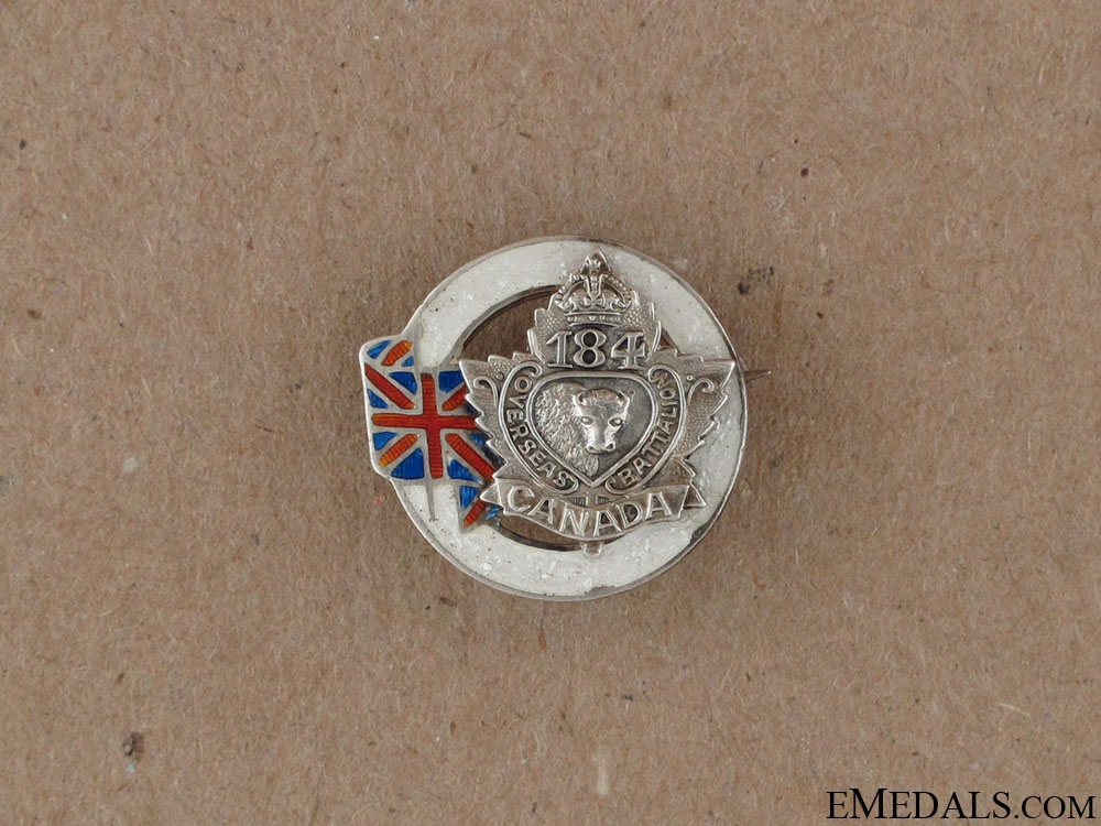 eMedals-WWI 184th Infantry Battalion Sweetheart Pin